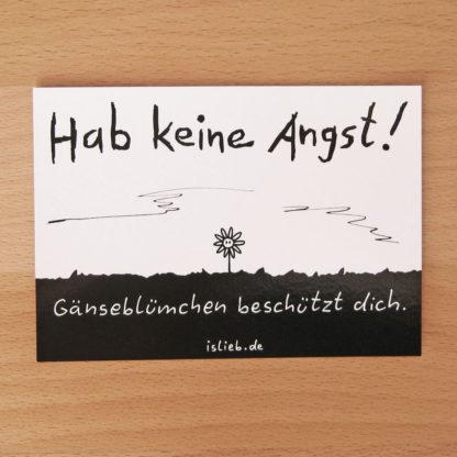 Gänseblümchen-Postkarte - is lieb?