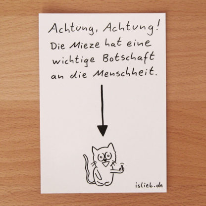 Mieze-Postkarte - is lieb?
