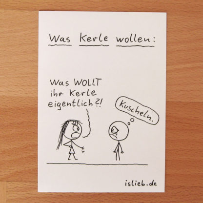 Was Kerle wollen Sticker - is lieb?