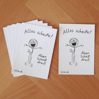 Alles scheiße! Postkarten-Set islieb