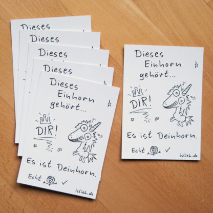 Deinhorn Postkarten-Set islieb