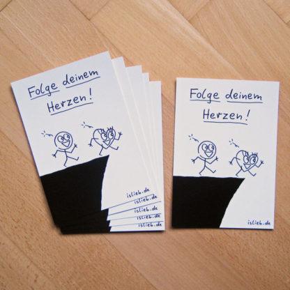 Folge deinem Herzen-Postkarten-Set islieb