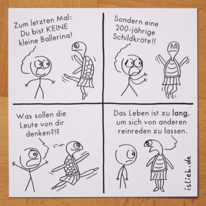 Ballerina-Karte! Is lieb?