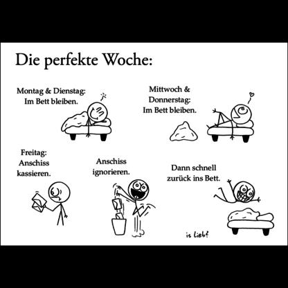 islieb Perfekte-Woche-Poster