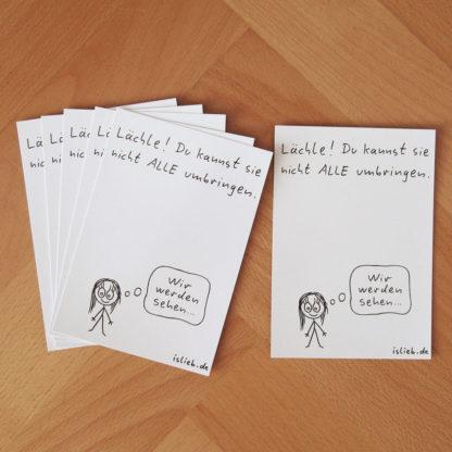 Lächle! Postkarten-Set islieb