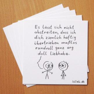 Liebhaben :) islieb-Grußkarten