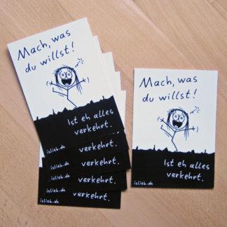 Mach, was du willst!-Postkarten-Set islieb