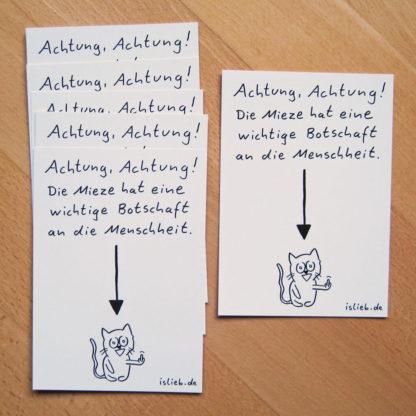 Mieze Postkarten-Set islieb