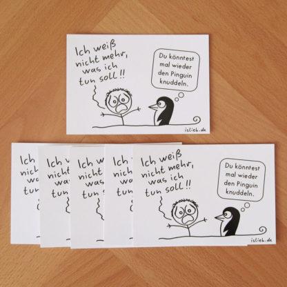 Pinguin Postkarten-Set islieb