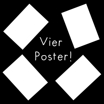 Vier Poster