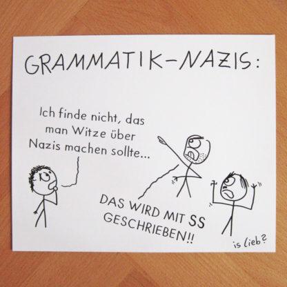 Grammatik-Nazis islieb Zeichnung