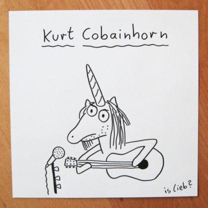 Kurt Cobainhorn islieb Zeichnung