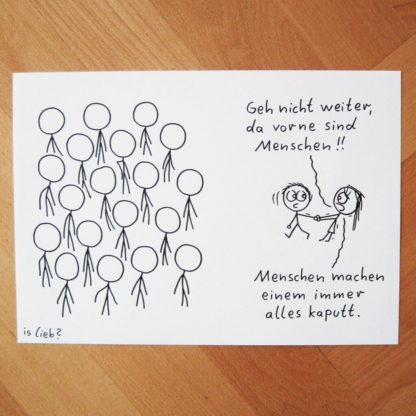 Menschen islieb Zeichnung