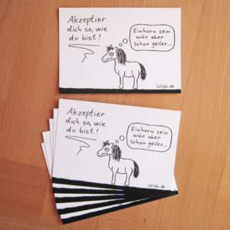 Akzeptanz Postkarten islieb