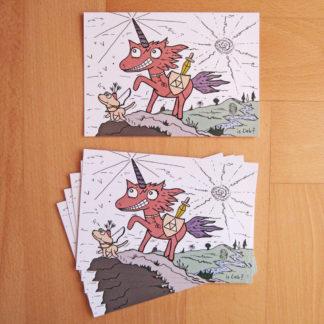 Einhorn Postkarten islieb