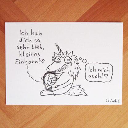 Einhornliebe islieb Zeichnung