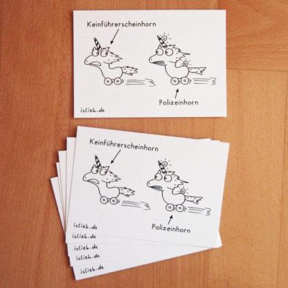 Rasereinhoerner Postkarten islieb