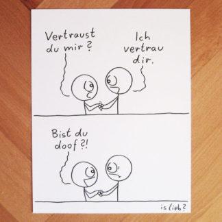 Vertrauen islieb Zeichnung