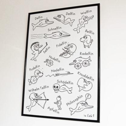 Delfin-Poster! Mit Delfinen. Is lieb?