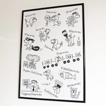 Wauwau-Poster! Mit Hunden. Is lieb?