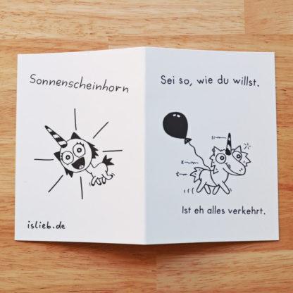 Wie du willst Sonnenscheinhorn Grußkarte islieb