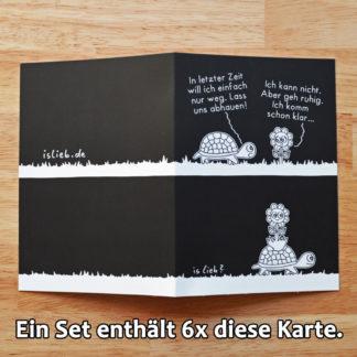 Abhauen Grußkarten-Set islieb Comics