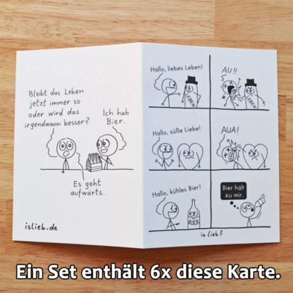 Bier! Grußkarten-Set islieb Comics