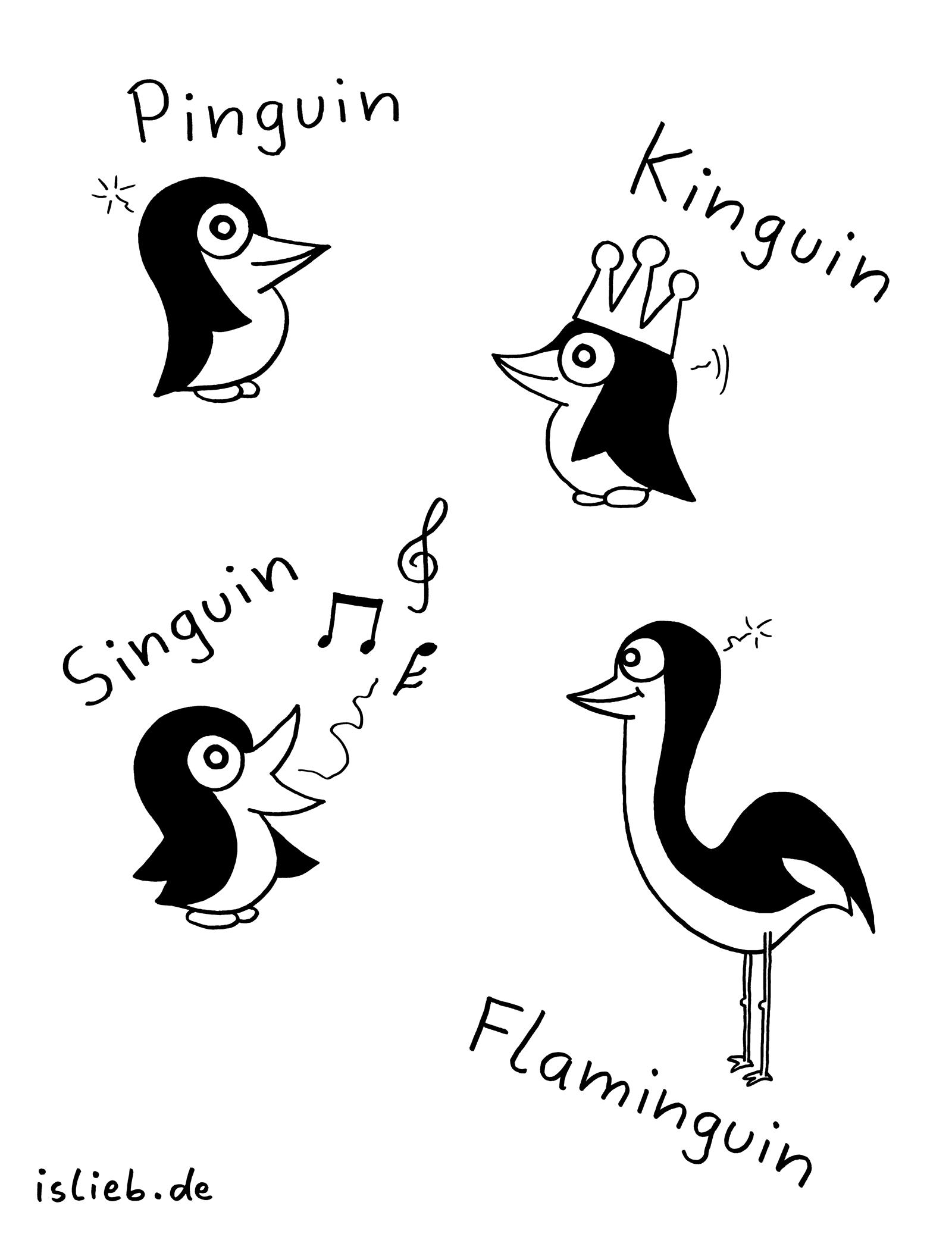 Pinguine islieb Comic