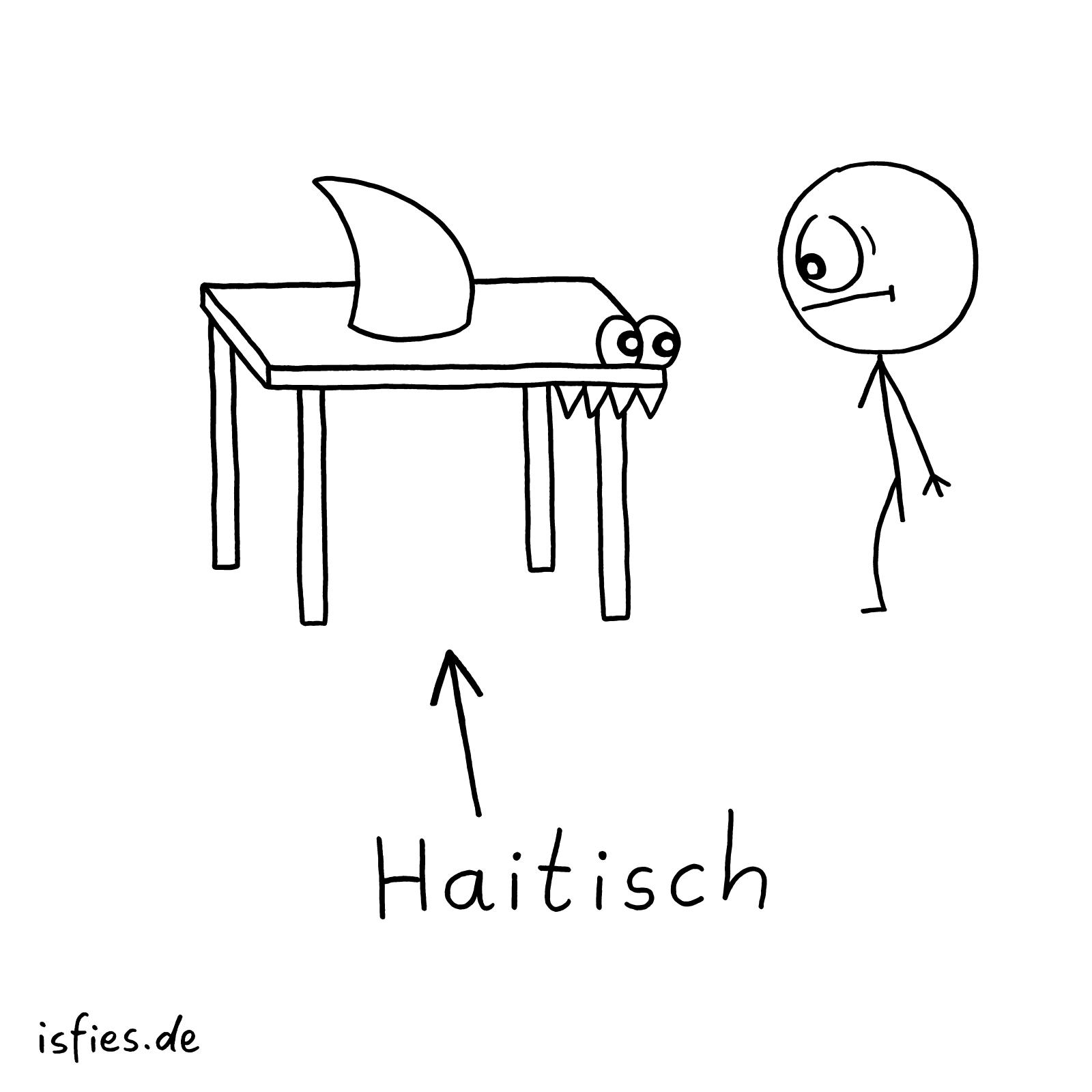 Haitisch isfies Cartoon