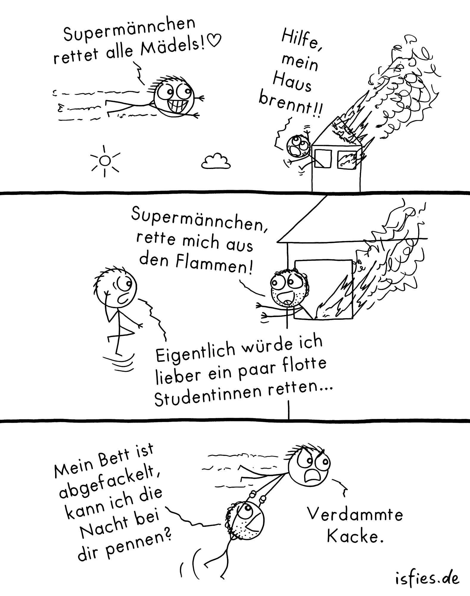 Supermännchen isfies Comic